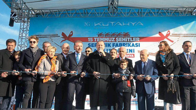 NG Kütahya Seramik'in 15 Temmuz Şehitler Seramik Fabrikası Açıldı
