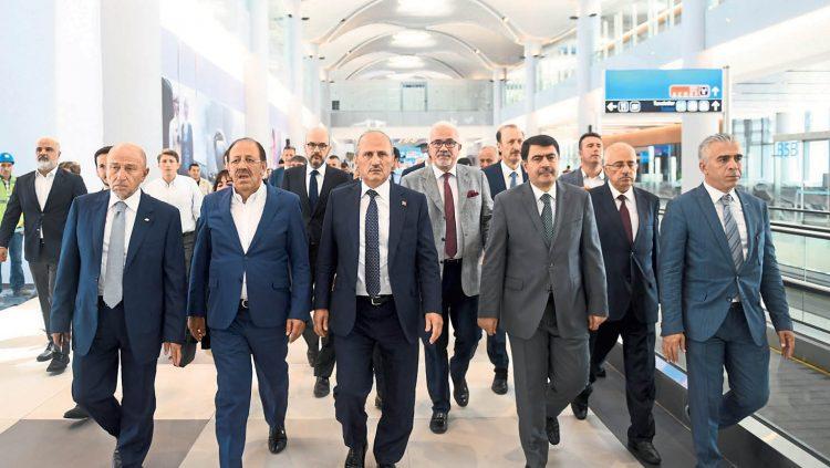 İstanbul Yeni Havalimanı'nda İnceleme
