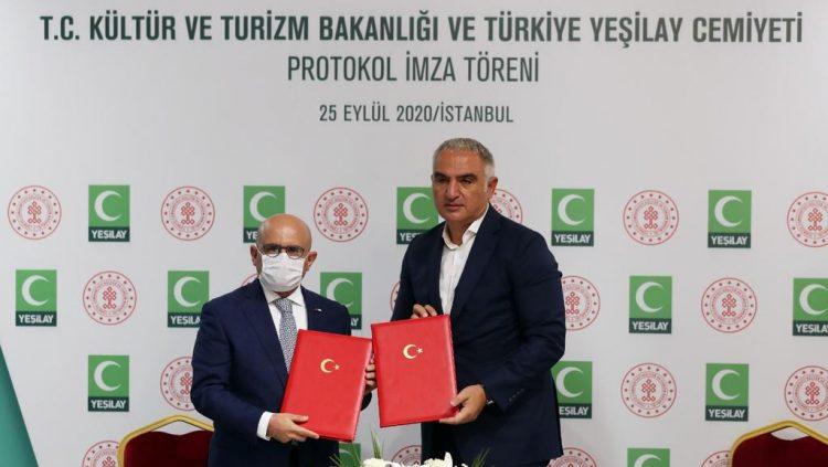 Yeşilay ve Kültür ve Turizm Bakanlığı'ndan İşbirliği Protokolü