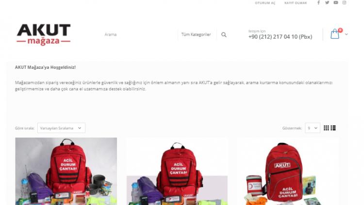 AKUT'tan Online Mağaza!